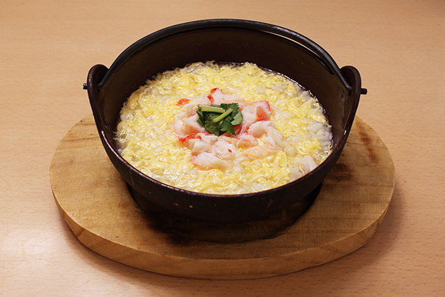Crab rice porridge
